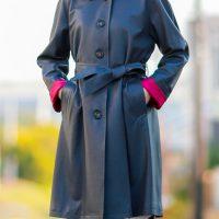 ラグラン袖シングルコート