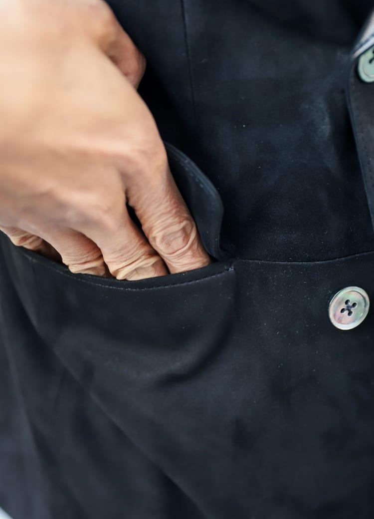 ポケットの内側はは裏起毛であったかい